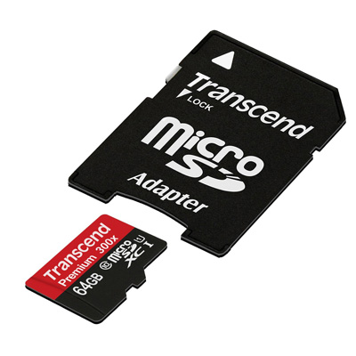 Transcend 64 GB micro SDXC card