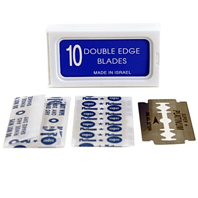 120-Crystal-Stainless-Steel-Platinum-Coated-Double-Edge-Safety-Razor-Blades