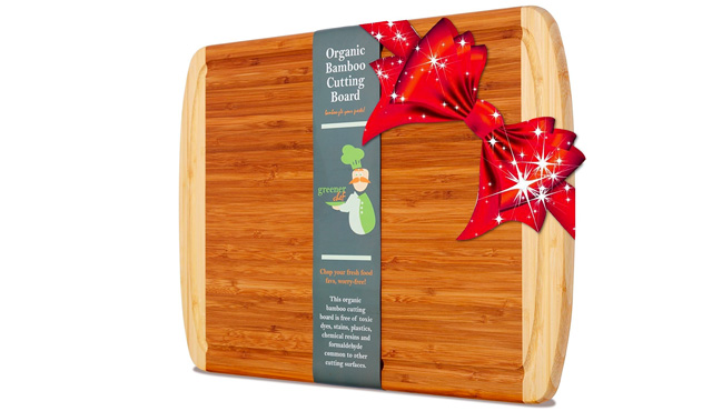 2. Greener Chef Bamboo Cutting Board & Wood Chopping Board,