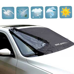 10.Apex car Premiums Windshield Snow Cover – Windproof Magnetic Edges