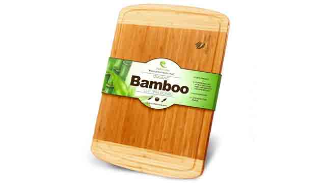 6. Midori way Small Bamboo Wood Cutting Board
