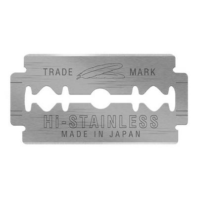 Feather-10-Razor Blades-New-Hi-Stainless-Double-Edge