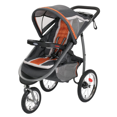 Graco-FastAction-Fold-Jogger-Click-Connect-Stroller,-Tangerine