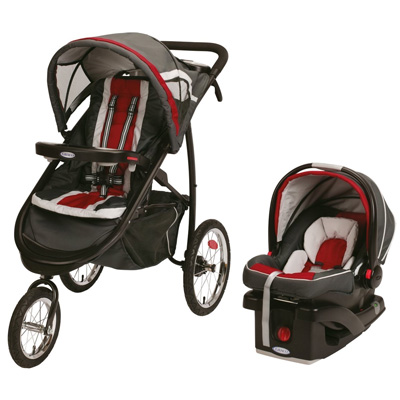 Graco-FastAction-Fold-Jogger-Click-Connect-Travel-System,-Chili-Red