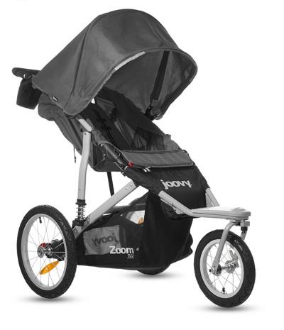 Joovy-Zoom-360-Swivel-Wheel-Jogging-Stroller,-Black