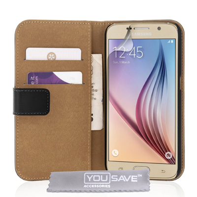 Yousave-Accessories-Samsung-Galaxy-S6-Case-Genuine-Leather-Wallet-Cover