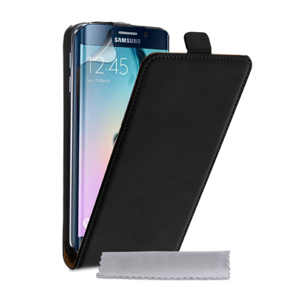Yousave-Accessories-Samsung-Galaxy-S6-Edge-Case-Genuine-Leather-Flip-Cover