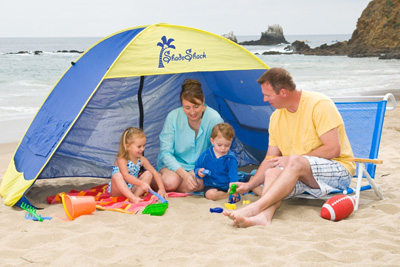 3 Shade Shack Instant Pop Up Family Beach Tent and Sun Shelter