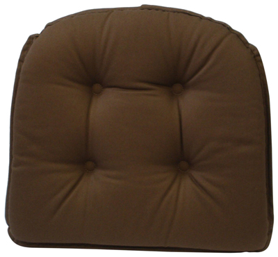 10. 5Klear Vu Gripper 100-Percent Cotton Twill Chairpad, Brown