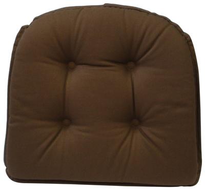 10. 5Klear Vu Gripper 100-Percent Cotton Twill Chairpad, Brown