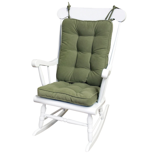 7. Greendale Home Fashions Standard Rocking Chair Cushion Hyatt fabric, Moss