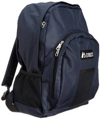 5. Everest Luggage Backpack with Front and Side Pockets