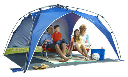 2 Lightspeed Outdoors Quick Beach Canopy Tent, Blue