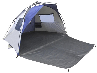 5 Lightspeed Outdoors Quick Cabana Beach Tent Sun Shelter, Blue