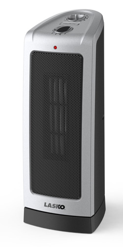 3. Lasko 5307 Oscillating Ceramic Tower Heater, 16-Inch