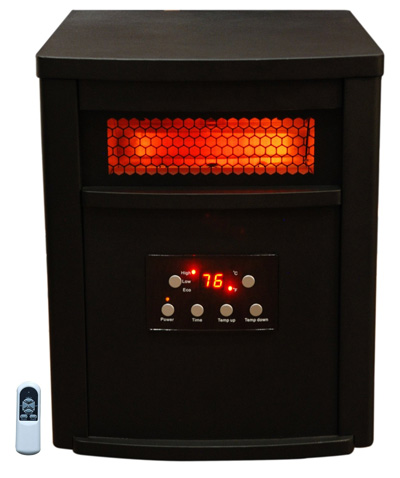 4. Lifesmart Large Room 6 Element Infrared Heater w/Remote