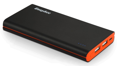 7. EasyAcc 10000mAh Brilliant Ultra Slim Dual USB