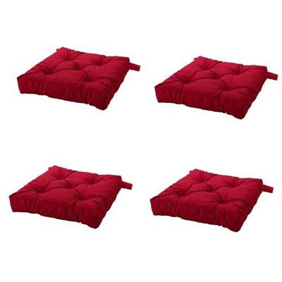 5. Ikea Malinda Chair Cushion, Chair Pad, Red Set of 4