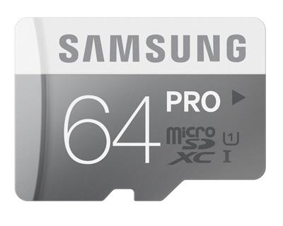 1. Samsung 64GB PRO Class 10 Micro SDXC