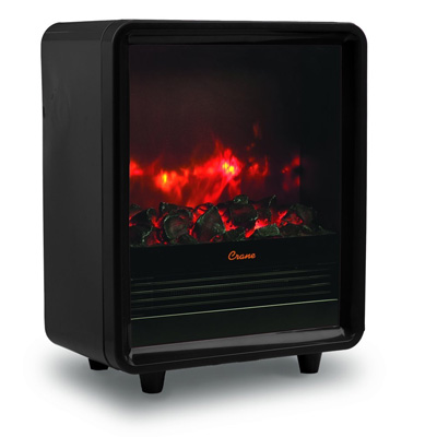 1.Crane USA EE-8075BK Crane Fireplace Space Heater, Black