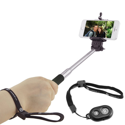 10. Extendable Selfie Stick with Bluetooth Remote by CamKix