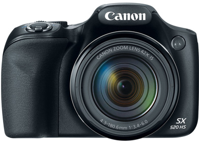 5. Canon PowerShot SX520 16Digital Camera with 42x Optical Image Stabilized Zoom with 3-Inch LCD (Black)