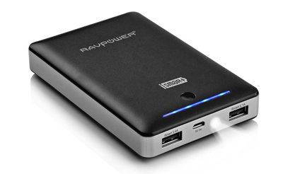 6. RAVPower® 3rd Gen Deluxe 16000mAh Portable Charger