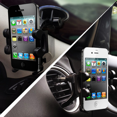 3. 2-in-1 Mobile Phone Car Mount, Holder, Cradle