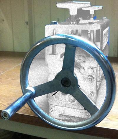 1. Large Wire Handwheel for STRiPiNATOR ® MWS-808 Wire Stripper by BLUEROCK Tools