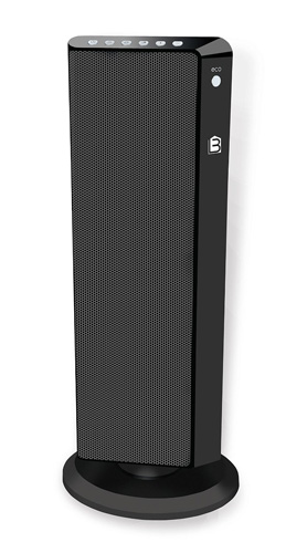 5. Living Basix LB5320 Flat Panel Tower Portable Space Heater, Black