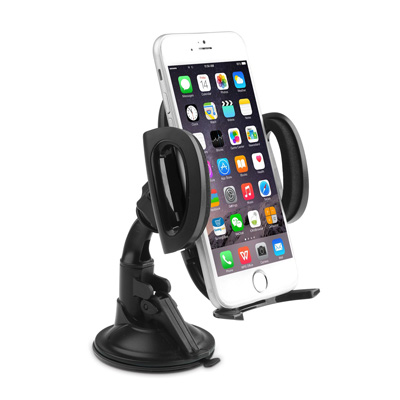 9. Aukey Windshield Car Mount Holder Cradle for iPhone, Samsung, Smartphones,Compact Size GPS, iPod