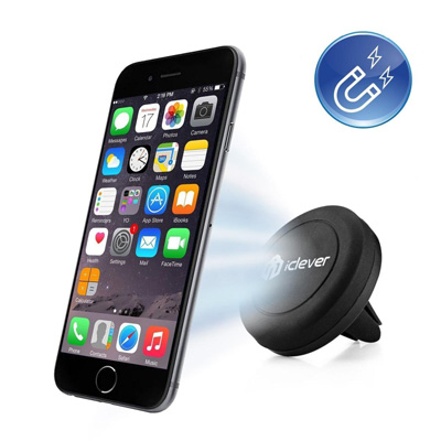 10. Car Mount, iClever® IC-CH05 Air Vent Universal Smartphone Magnetic Car Mount Holder Cradle for Apple iPhone 6 6 Plus
