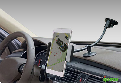 5. Car Mount,Ipow Universal Dashboard Windshield 13 Inches Long Arm Car Mount Holder Cradle