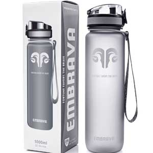 1. Embrava Sports Water Bottle --Non-Toxic, BPA-Free, and Eco-Friendly