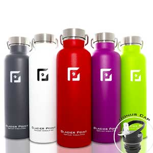 7. Glacier Point Insulated Stainless Steel Vacuum Water Bottle