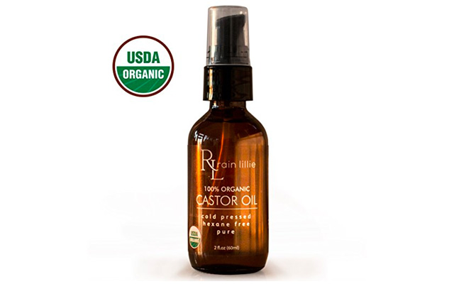 10. Organic Castor Oil for Hair Growth, Cold Pressed by Rain Lillie