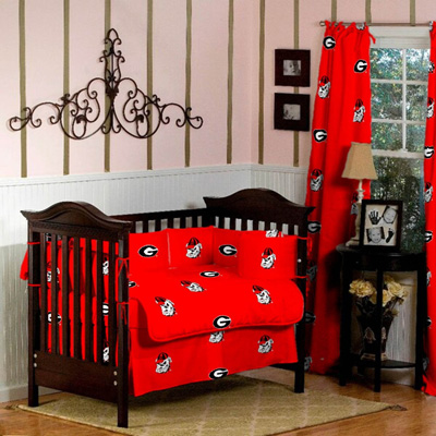 GEORGIA-Bulldogs-Baby-Crib-Set-5-Pc-set