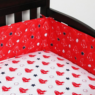 MLB-Boston-Red-Sox-Crib-Bumper-Baseball-Bedding-Accessory