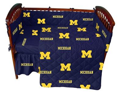 Michigan-5-Pc-Baby-Crib-Logo-Bedding-Set