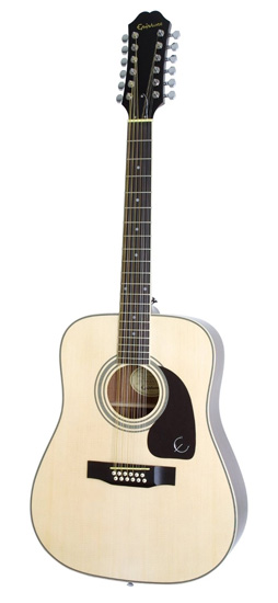 7. Epiphone DR-212 Acoustic Guitar, 12-String, Natural