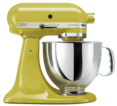 6. KitchenAid KSM150PSPE Artisan 5-Quart Stand Mixer, Pear
