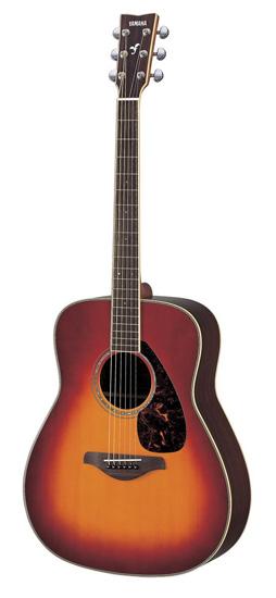 4. Yamaha FG730S Acoustic Guitar, Vintage Cherry Sunburst