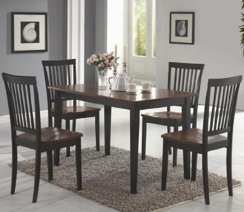 3. Coaster 5-piece Dining Set, Table Top with 4 Chairs