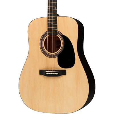 1. Rogue RA-090 Dreadnought Acoustic Guitar Natural