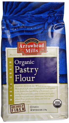 3. Arrowhead Mills Organic Pastry Flour, 5 Pound