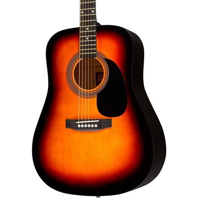 3. Rogue RA-090 Dreadnought Acoustic Guitar Sunburst