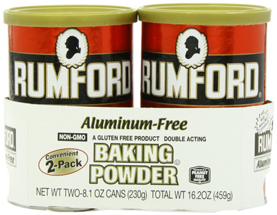 4. Rumford Aluminum Free Baking Powder, 8.1-Ounce Canisters