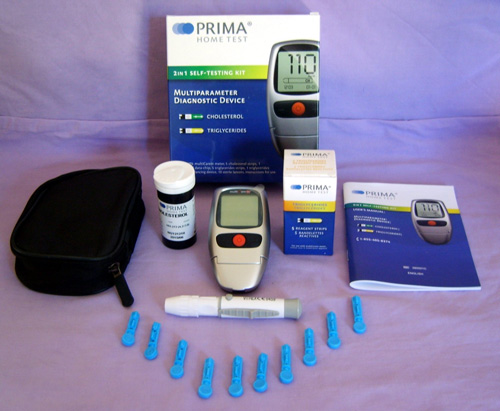 7. PRIMA Cholesterol and Triglycerides 2 in 1 Home Test/Meter Kit