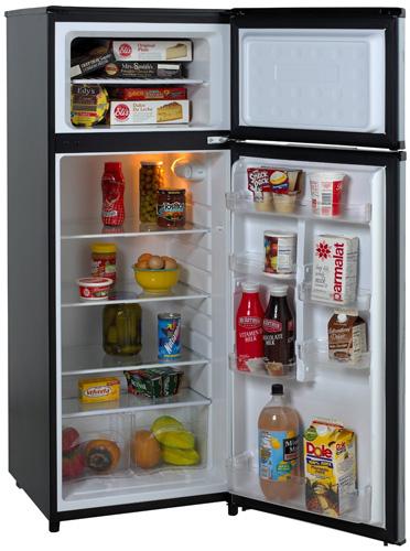 10. Avanti RA7316PST 2-Door Apartment Size Refrigerator