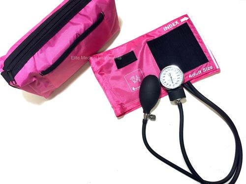8. EMI PINK Deluxe Aneroid Sphygmomanometer Blood Pressure Monitor
